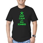 Keep Calm and Kill Zombies Men's Fitted T-Shirt (d