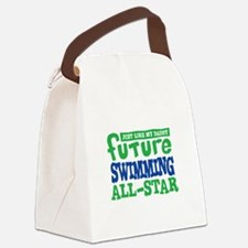 Future Swimming All Star Boy Canvas Lunch Bag