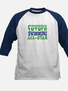Future Swimming All Star Boy Kids Baseball Jersey