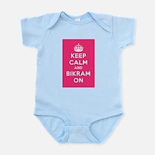 Keep Calm and Bikram On Infant Bodysuit