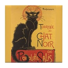 Steinlen Cat Tile Coaster