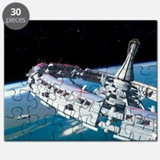 Space station orbiting Earth - Puzzle