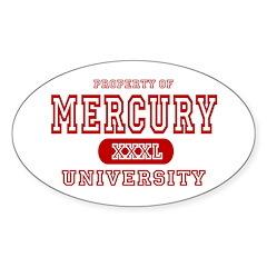 Mercury University Property Oval Decal