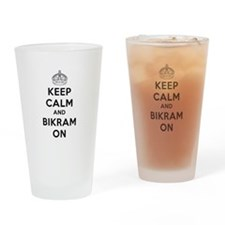 Keep Calm and Bikram On Drinking Glass