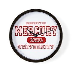 Mercury University Property Wall Clock