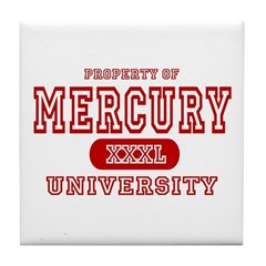 Mercury University Property Tile Coaster
