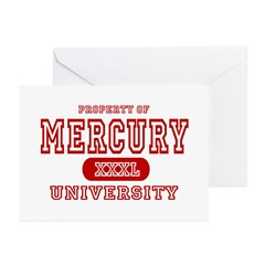 Mercury University Property Greeting Cards (Packag