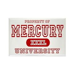 Mercury University Property Rectangle Magnet