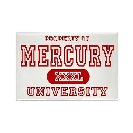 Mercury University Property Rectangle Magnet (10 p