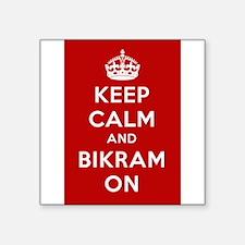 "Keep Calm and Bikram On Square Sticker 3"" x 3"""
