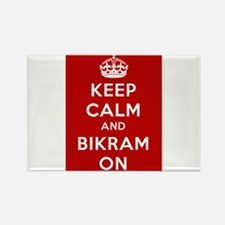 Keep Calm and Bikram On Rectangle Magnet