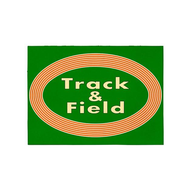 Track And Field 5'x7'Area Rug By Mapagoda