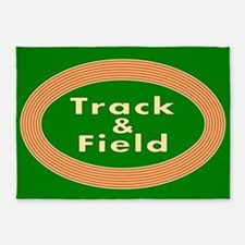 Track and Field 5'x7'Area Rug