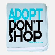 Adopt Dont Shop baby blanket
