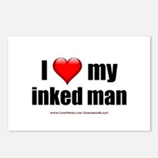 """Love My Inked Man"" Postcards (Package of 8)"