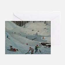 "Roy LaBaff's ""A Winter Saturday"" Greeting Cards (P"