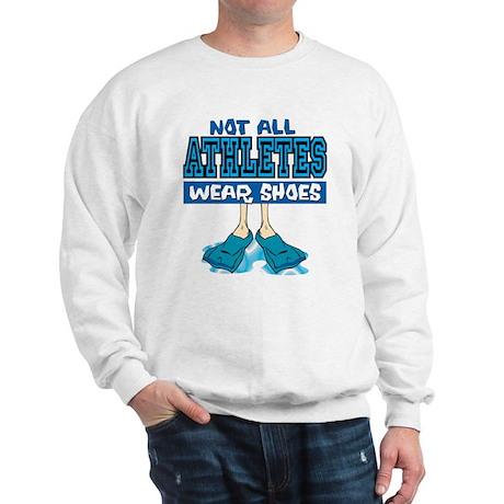 Swimming Not All Wear Shoes Sweatshirt