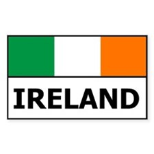 Ireland Flag Rectangle Decal