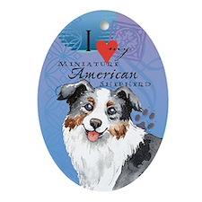 Miniature American Shepherd Ornament (Oval)