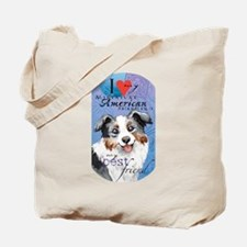 Miniature American Shepherd Tote Bag
