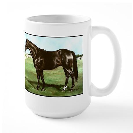 """Thoroughbred """"Bold Ruler"""" Large Mug"""