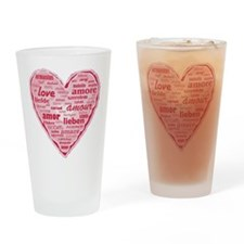 Multilingual Love Drinking Glass