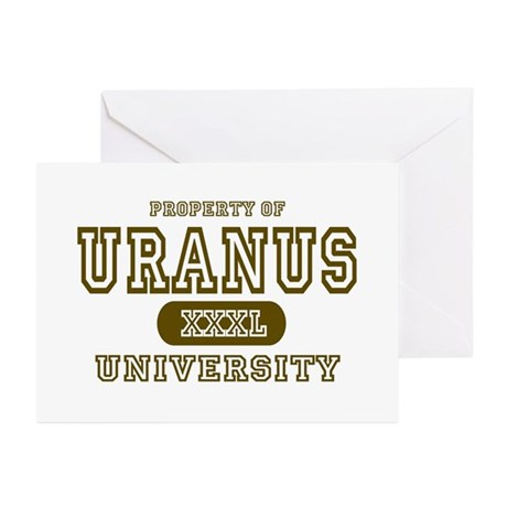 Uranus University Property Greeting Cards (Package