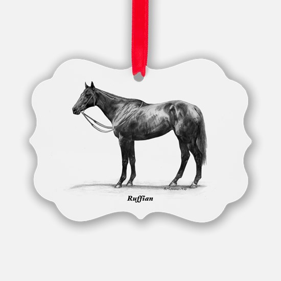 "Thoroughbred ""Ruffian"" Ornament"