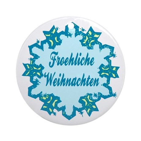 froehliche weihnachten ceramic ornament by playtimeandparty. Black Bedroom Furniture Sets. Home Design Ideas
