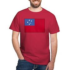 Samoan Flag 4 Cardinal T-Shirt