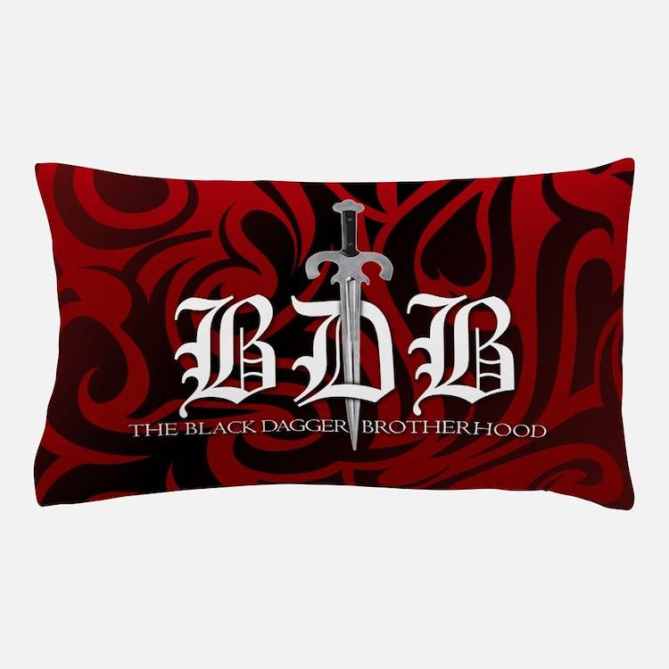 BDB Dagger Logo Red Pillowcase