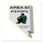 Area 51 Psyops Square Car Magnet 3