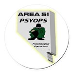 Area 51 Psyops Round Car Magnet