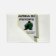 Area 51 Psyops Rectangle Magnet