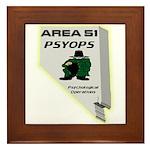 Area 51 Psyops Framed Tile