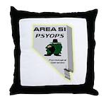 Area 51 Psyops Throw Pillow