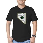 Area 51 Psyops Men's Fitted T-Shirt (dark)