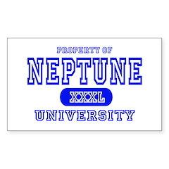 Neptune University Property Rectangle Decal
