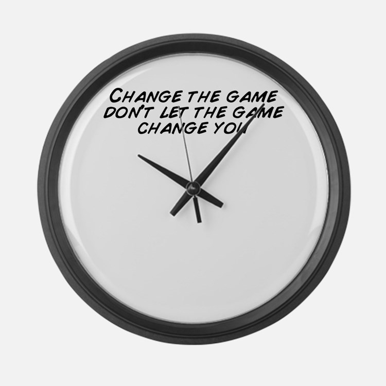 Cute Game change Large Wall Clock