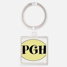 PGH, Pittsburgh, PA, Square Keychain