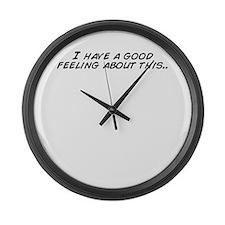 Cute Feeling it Large Wall Clock
