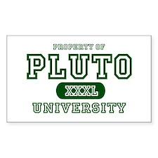 Pluto University Property Rectangle Decal