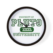 Pluto University Property Wall Clock