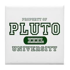 Pluto University Property Tile Coaster