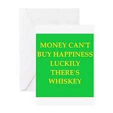 whiskey Greeting Card