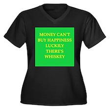 whiskey Women's Plus Size V-Neck Dark T-Shirt