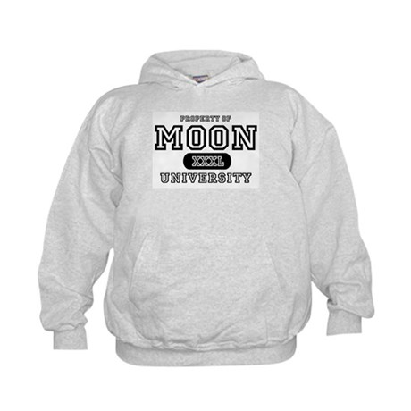 Moon University Property Kids Hoodie