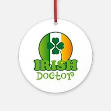 Irish Doctor Ornament (Round)