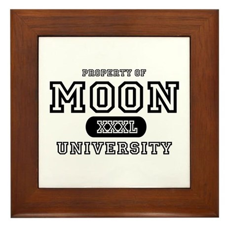 Moon University Property Framed Tile