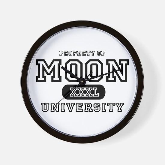 Moon University Property Wall Clock